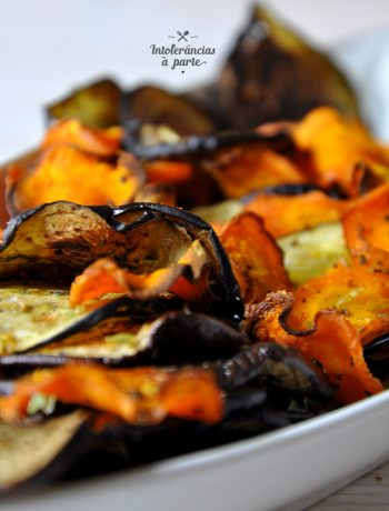 chips de beringela e cenoura