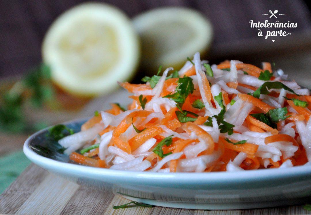 Salada de nabo e cenoura
